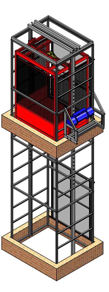 Шахтный подъёмник - Новые Инженерные Конструкции Тула